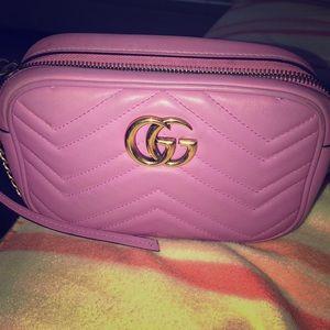 New season pink gucci bag